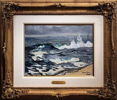 sea at bay head, new jersey [sold] by hayley lever